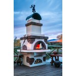 Уличная русская печь  для дачи «Емеля»